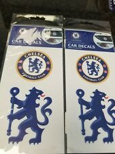 CHELSEA CAR DECALS OFFICIAL PRODUCT 2 PACK LOT STICKERS