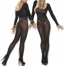 HOT Babydoll Sexy silk Lingerie Underwear BODYSTOCKING Catsuit Crotchless Teddy