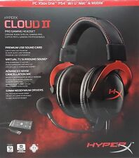 Kingston HyperX Cloud II Gaming Kopfhöhrer, rot, PC, PS4, Mac - Neu & OVP