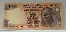 INDIA Rs 10 RUPEES Fancy Serial Number 98A-888800 UNC BANKNOTE MAHATMA GANDHI