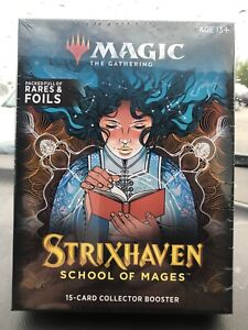 MAGIC THE GATHERING STRIXHAVEN School of Mages 15-Card Collector Booster
