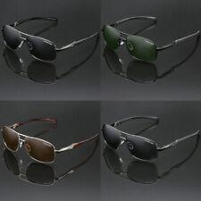 Polarized Flat Top Aviator Sunglasses Anti Glare Fishing Golf Driving Glasses