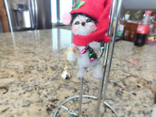 """Annalee Mobilitee 3"""" Christmas Mouse with Ornaments Holiday Ornament"""