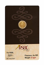 RSBL eCoins 0.5 gm Gold Coin 24 kt purity 995 Fineness-WITH TAX INVOICE