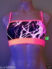 Schminke Bandeau Bra crop top festival UV lightning Neon Lycra club clothing