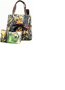 Camouflage Diaper Bag Purse Handbag, Camo Black Trim
