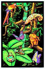 Rainforest Flocked Blacklight Poster Art Print - 24x36