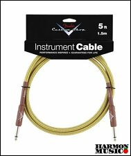 Fender Custom Shop Instrument Cable 5ft. foot TWEED Straight Straight