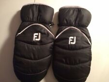 Foot Joy Golf Cart Mitts Gloves Black White Fj Logo 1 Pair