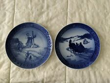 2 Royal Copenhagen Christmas Plates 1963 and 1964