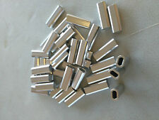 ALUMINIUM ALLOY CRIMPS 2.mm x 18mm LONG CRIMP 200 Pack MONO & WIRE LEADER LINE