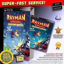 Rayman Origins Collectors AUSSIE LIMITED EDITION game for PS3 (NEW SEALED RARE)