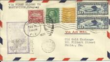 US FIRST FLIGHT-Mu#303-MIAMI FLA JAN/11/1930 to MONTEVIDEO URUGUAY