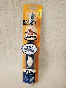 NEW Arm & Hammer Spinbrush Pro Clean White Blue Soft Powered Toothbrush