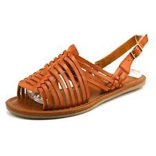 Sandalias con tiras de mujer marrón, talla 37.5