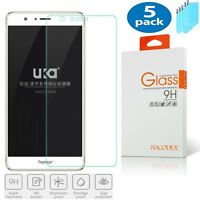 [5-Pack] Nacodex For Huawei Honor 8 Premium HD Tempered Glass Screen Protector
