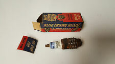 Vintage Blue Crown Husky Spark Plug  88S Vintage Advertising Rat Rod