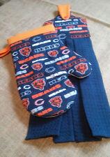 Chicago Bears  - Towel & Matching BBQ - Oven Mitt Set - Handmade to Order
