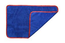 "Microfiber Towel Elite  Car Wash Polish Cloths 16""x24"" Blue w/Red 1Dz FREE SHIP"