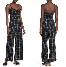 New Romeo & Juliet Printed Wide Leg Jumpsuit $140 Sz Small