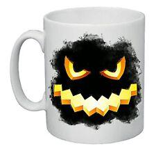 tazza mug 8x10 cm disegno zucca nera halloween idea regalo scherzo