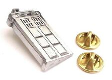 Old Police Phone Box Handcrafted in English Pewter Lapel Pin Badge