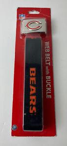Chicago Bears NFL Web Belt with Buckle Siskiyou Sports