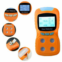 Portable Industrial 4 Gas Test Detector O2 LEL CO H2S Analyzer Tester Monitor