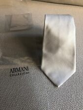 Giorgio Armani MENS Light Blu TIE MADE IN ITALY $175retail European Style 💯silk