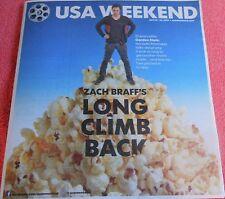USA WEEKEND JULY 2014 ZACH BRAFF LONG CLIMB BACK 10 YEARS AFTER GARDEN STATE
