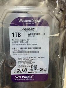 HARD DISK 3,5 WESTERN DIGITAL HIKVISION PURPLE 1TB SATA3 64MB  WD10PURx-78