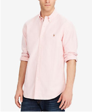 Polo Ralph Lauren Men's Classic Fit Long Sleeve Solid Oxford Shirt Pink Size XXL
