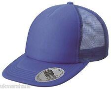MB Flat Peak Snapback Trucker Cap in 8 Colours Sporty Fashion Hat (MB6508)