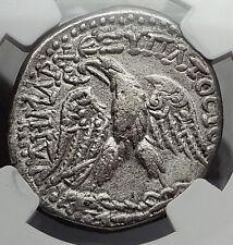 CARACALLA 215AD RARE CYPRUS MINT Silver Tetradrachm Eagle Roman Coin NGC i58200