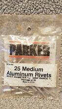 "Parker 25 Medium Aluminium Rivets 3/16"" Diameter Grip Range 1/4"" RTA 64"