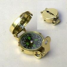 "BRASS MILITARY COMPASS 3"" - LENSATIC NAVIGATION COMPASS - SCOUT- HIKING -CAMPING"