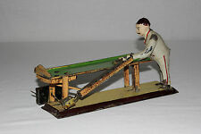 Rare German Gunthermann Tin Painted Wind Up Pool Player Billiards Table VG L@@K