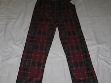 Boys L 12-14 CALVIN KLEIN Red and Gray Plaid Flannel Sleep Pajama Pants NWT