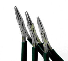 Set Of 3 Micro Fine Tip Pliers By Beadsmith In Wood Base
