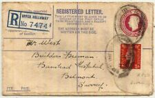 1940 Rare KGVI 4½d postal stationery env w/price obliterated RP50 used Holloway