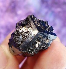 Natural Shiny Black Mercedes Tourmaline Crystal Specimen Erongo,Namibia T16