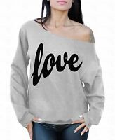 LOVE Black Off the shoulder oversized slouchy sweater sweatshirt