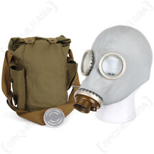 More details for russian gp5 gas mask - grey soviet gp-5 halloween costume with bag no filter