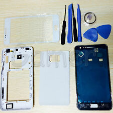 Full Housing Case + Front Glass Screen tools for Samsung Galaxy S2 i9100 White