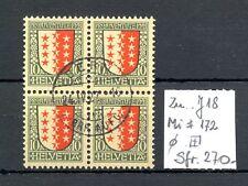 SWITZERLAND ZU# J 18--BLOCK OF 4 -CV -Sfr. 270--USED LUXE