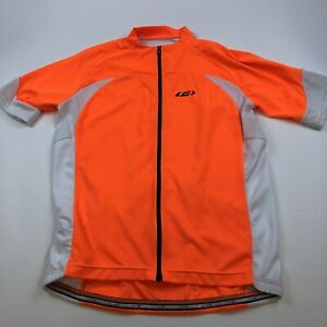 Louis Garneau Metz Jersey Mens Large Cycling Safety Orange Neon Bright 3 Pockets