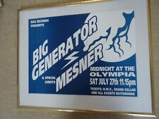 BIG GENERATOR & MESNER GIG CONCERT POSTER OLYMPIA DUBLIN MINT 1990`S RARE GEM