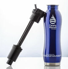Clearly Filtered Stainless Steel Purification Water Bottle - 99.99% Contaminates