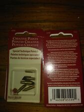 2 packs of 5 Walnut Hollow Creative Woodburning Special Technique Points 5599