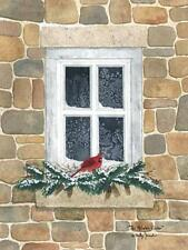 Billy Jacobs Winter Visitor Cardinal Art Print 12 x 16